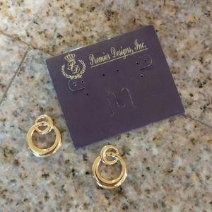 Vintage Premier Designs Gold Earring Jackets